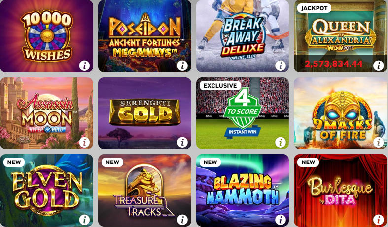 Betway Casino Canada the most popular games