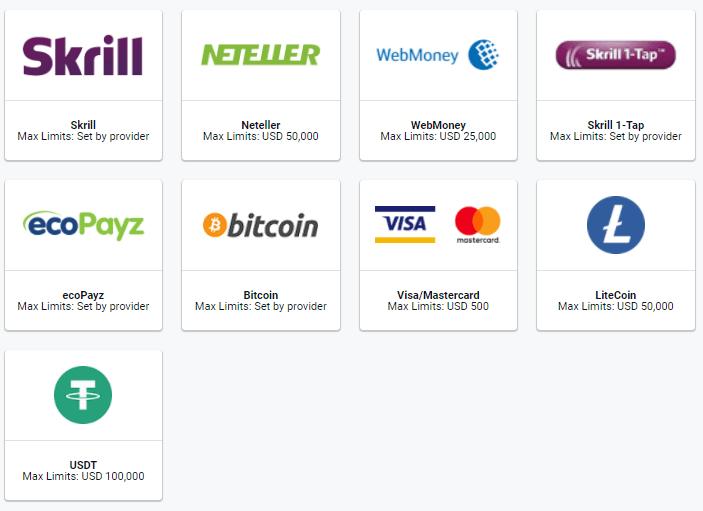 Pinnacle deposit options