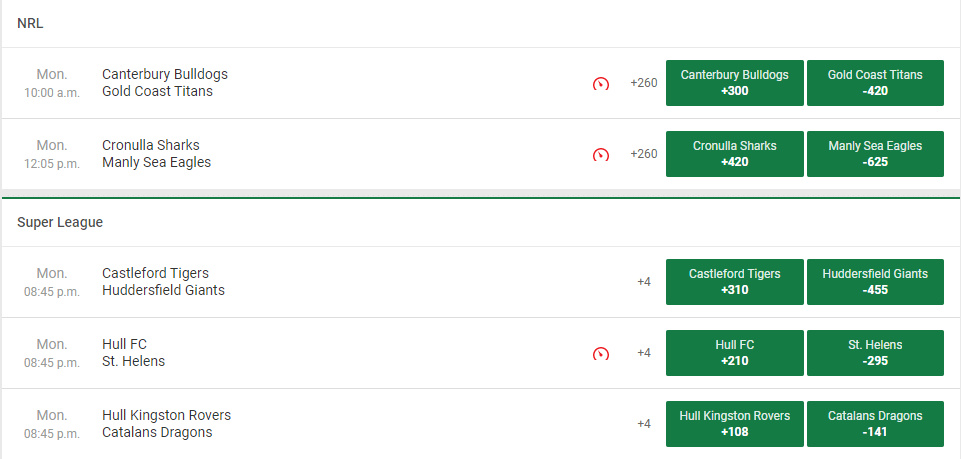 Unibet sportsbook games and odds