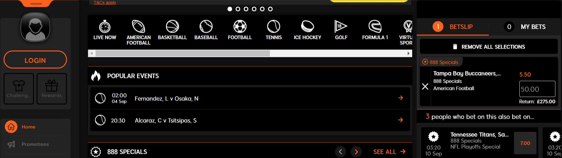 888sport interface