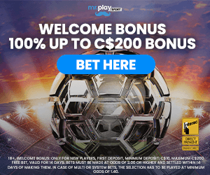 MrPlay welcome bonus canada